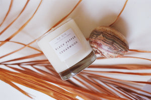 Black Pepper & Cedarwood Candle / Available in Multiple Sizes
