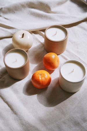 Sage & Eucalyptus Essential Oil Soy Candle / Available in White & Terracotta Ceramic
