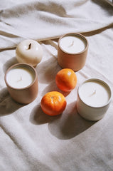 100% ESSENTIAL OIL SOY CANDLES IN CERAMIC 8OZ VESSEL / MULTIPLE SCENTS AVAILABLE