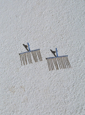 FARIS LINELASH EARRINGS / STERLING SILVER