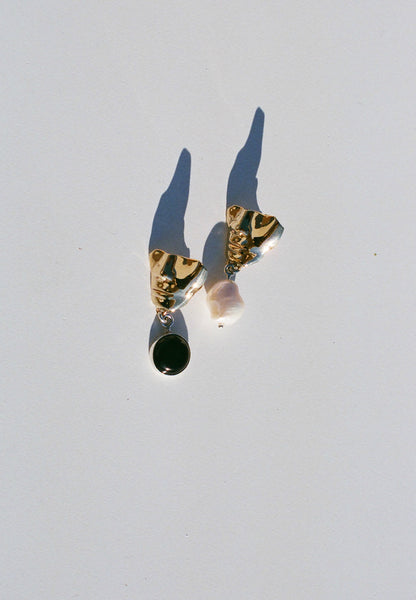 Faris Portra Drop Earrings / Bronze
