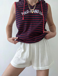 90s Polo Jeans Sleeveless Hoodie