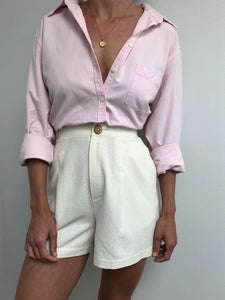 Vintage Blush Button Up