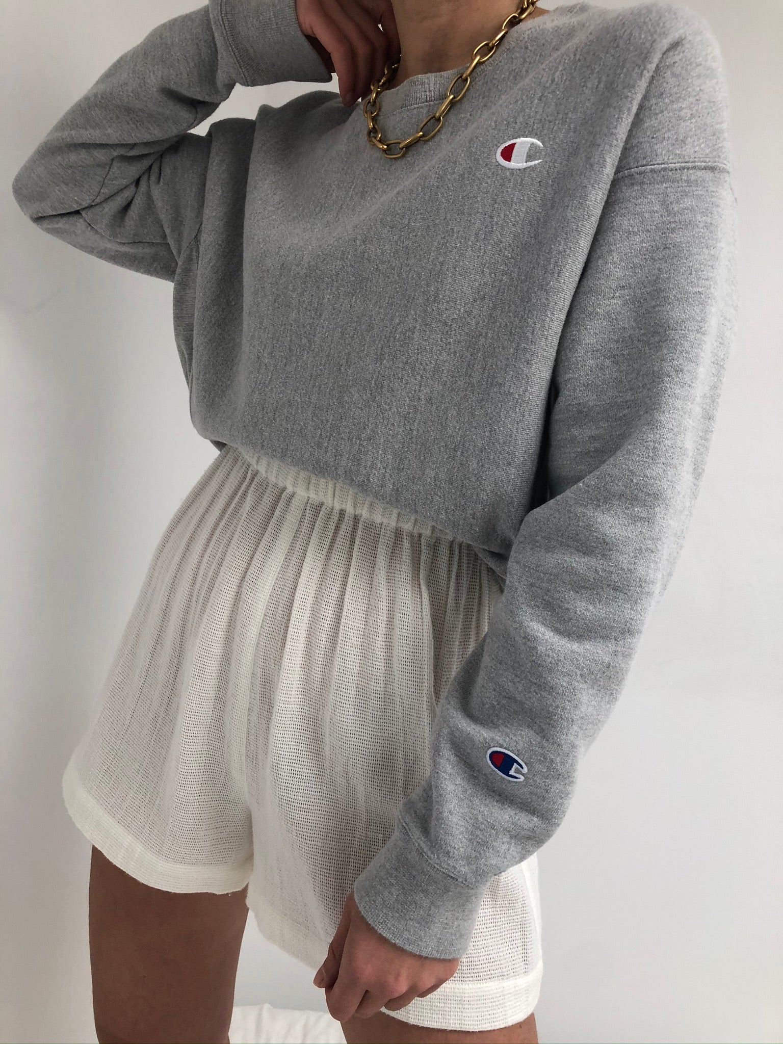 Vintage Grey Champion Reverse Weave Pullover