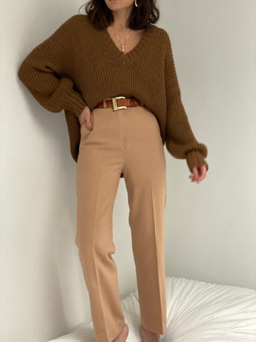 Vintage Camel Wool Trousers