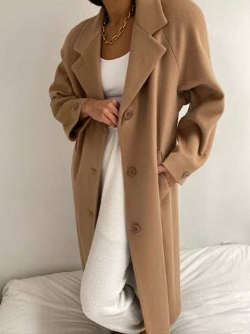 Vintage Camel Long Coat