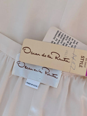 Vintage Oscar De La Renta Pleated Silk Skirt