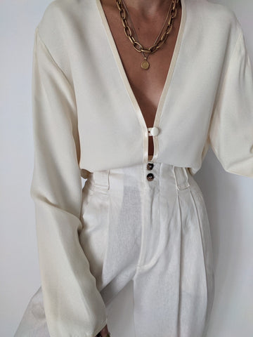 Vintage Pearl Tunic Blouse