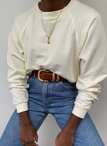 Na Nin Sloane Cotton Crewneck Sweatshirt / Available in Multiple Colors