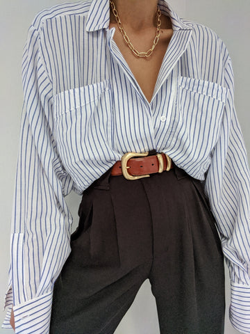 Na Nin Clarke Striped Button Up