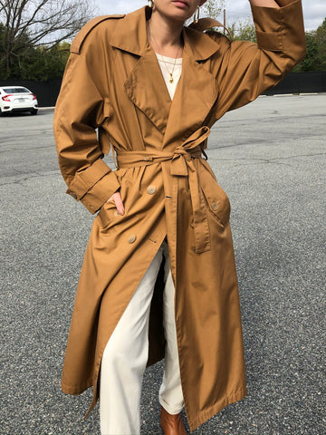 Vintage Chestnut Trench Coat