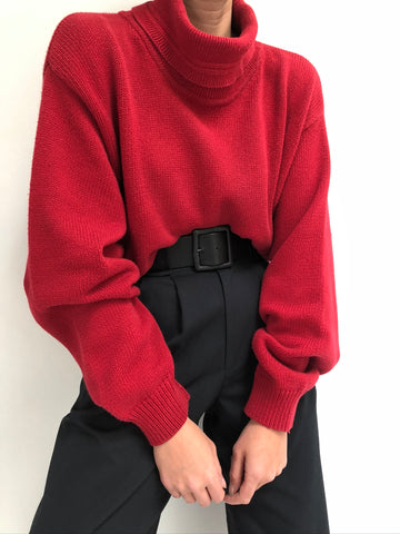 Vintage Faded Cherry Turtleneck