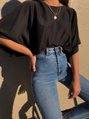 Vintage Faded Black Dolman Tee