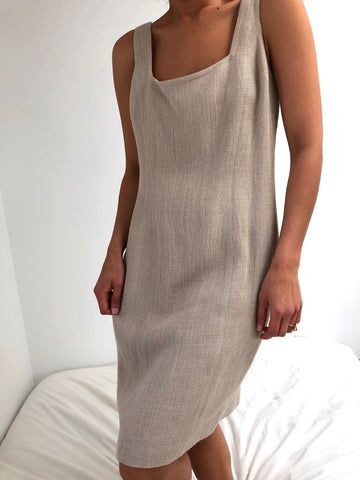 Vintage Incredible Deadstock Woven Linen Dress Set