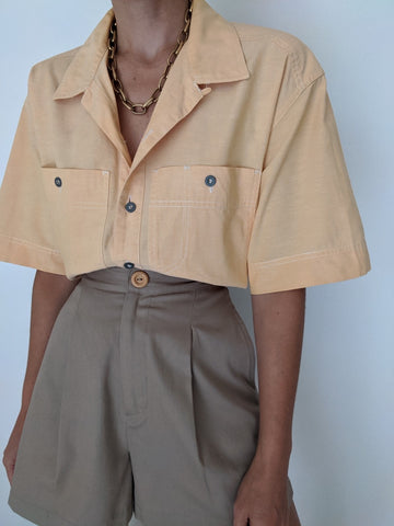 Vintage Pale Tangerine Button up