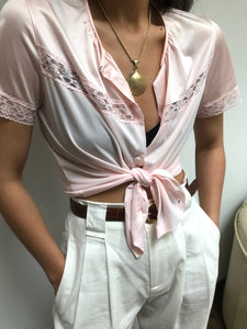 Vintage Ballet Pink Sleep Blouse