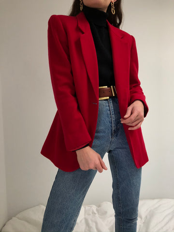Vintage Berry Wool Blazer
