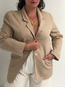 Vintage Sand Single Button Blazer