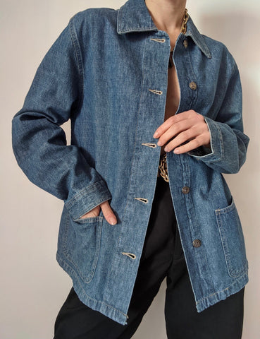 Vintage Thin Denim Chore Coat