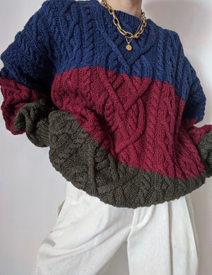 Vintage Multi-Colored Knit Pullover