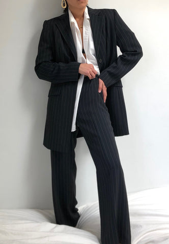 Vintage Striped Pant Suit