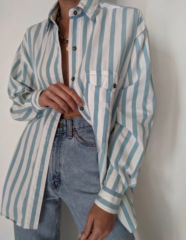 Dockers' Blue Striped Button Up