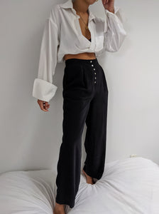 Vintage High Waisted Faded Silk Trousers