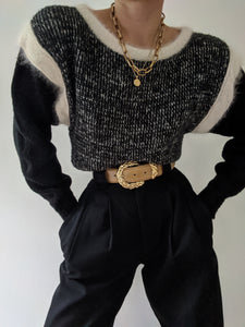 Vintage Favorite Angora Trimmed Sweater