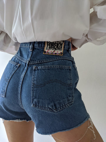 Vintage High Waist Denim Cutoff Shorts
