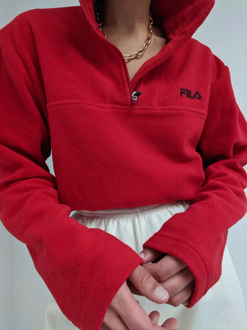 Cherry Fila Fleece Zip Up