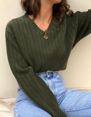 Vintage Hunter Green Cotton Pullover
