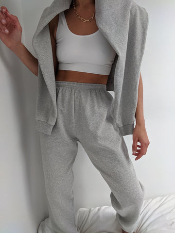Na Nin Cleo Cotton Sweatpants / Available in Heather Grey
