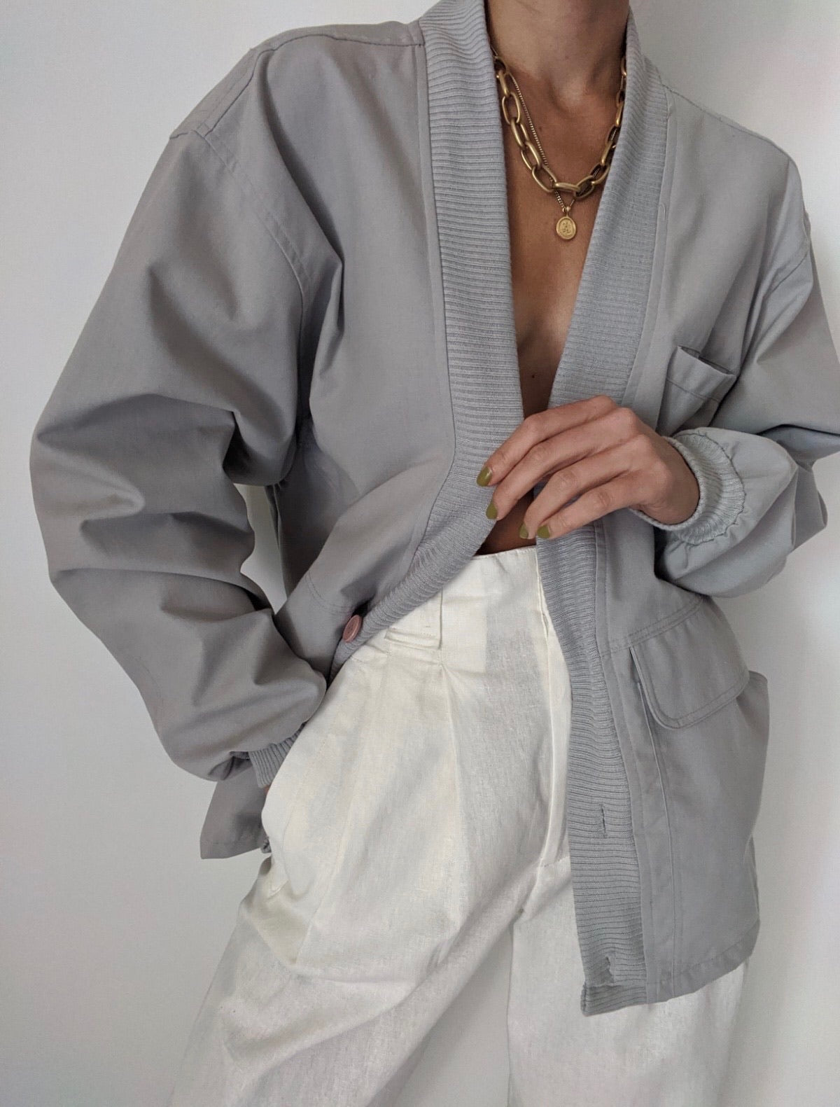 Vintage Grey Lightweight Jacket