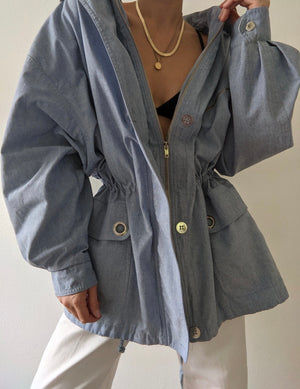 Vintage Chambray Zip Up Jacket