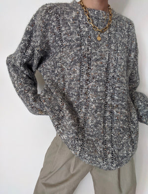 Vintage Speckled Wool Knit Sweater