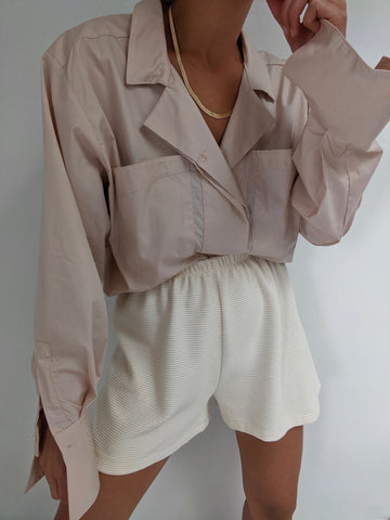 Na Nin Clarke Button Up / Available in Rose & Black