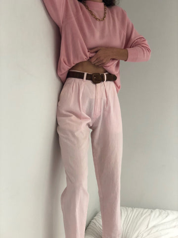 Vintage High Waisted Bubblegum Trousers