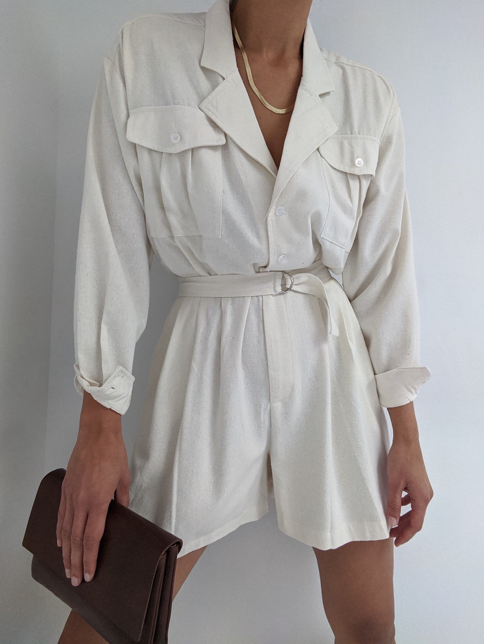 Na Nin Joey Raw Silk Jumpsuit / Available in Cream & Black