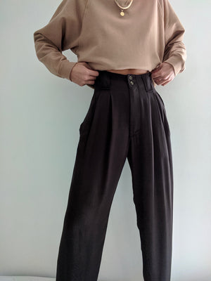 Na Nin Townes Rayon Twill Trouser / Available in Black