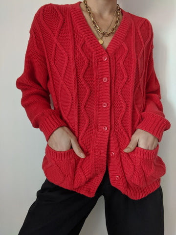 Vintage Cherry Knit Cardigan