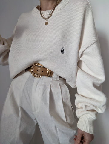 Cream Nautica Knit Sweater