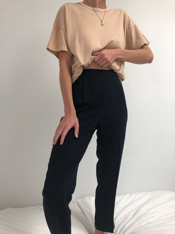 Vintage Navy Easy Pants