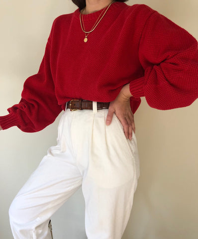 Vintage Faded Tomato Cotton Knit