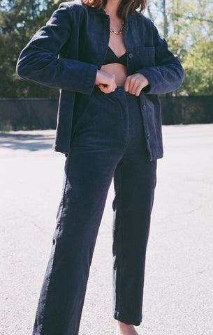 Nice Things Pantalon Pant / Available in Navy