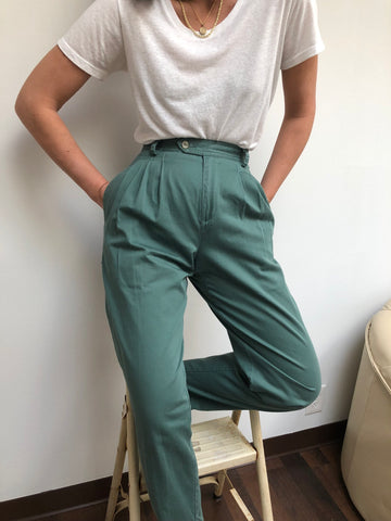 Vintage Faded Teal Trouser