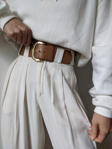 Vintage Classic Wide Leather Belt
