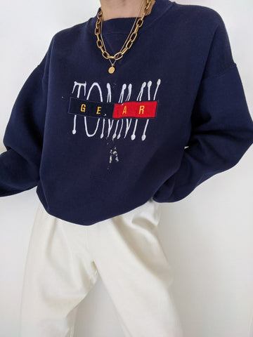 Vintage Tommy Gear Navy Pullover