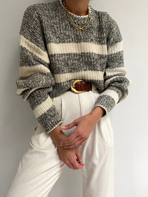 Vintage Striped Knit Pullover
