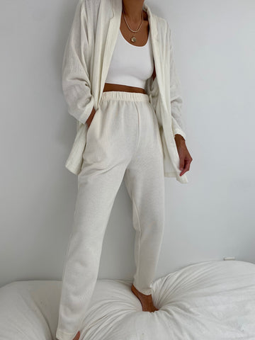 Vintage Cream Woven Easy Pant