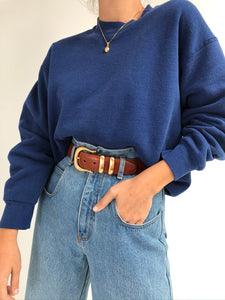 Vintage Faded Blue Pullover